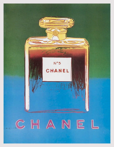 Chanel (Green & Blue), Offset Lithograph on Canvas, Andy Warhol - Fine Artwork