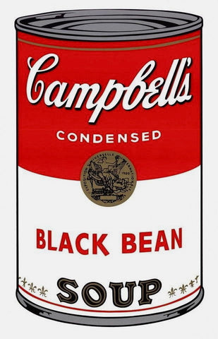 Campbell's Soup Black Bean, Silkscreen, Andy Warhol - Fine Artwork