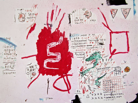 Snakeman (1982-83) - Jean-Michel Basquiat - Fine Artwork