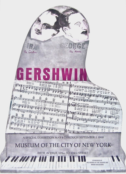 Gershwin Brothers, Original 1968 Vintage Poster, Larry Rivers