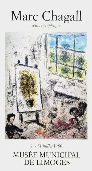Musee De Limoges, 1980 Exhibition Poster, Marc Chagall - Fine Artwork