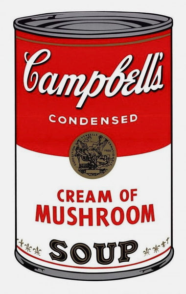 Campbell's Soup Cream of Mushrooms, Silkscreen, Andy Warhol - Fine Artwork