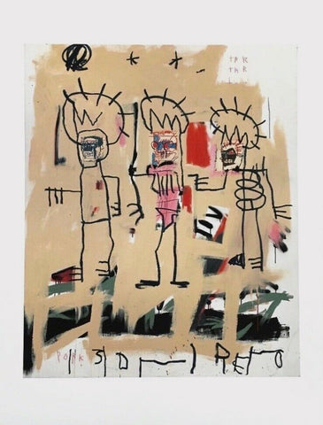 Three Kings, Giclee, Jean-Michel Basquiat
