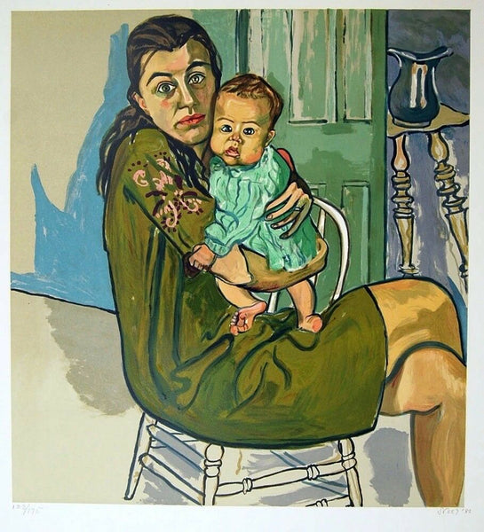 Mother & Child, Limited Edition Lithograph, Alice Neel