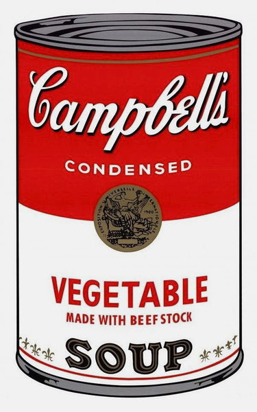 Campbell's Soup Vegetable (Sunday B. Morning) - Andy Warhol - Fine Artwork