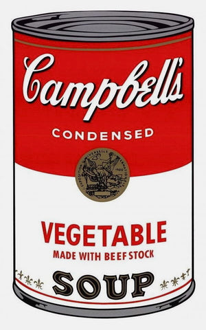 Campbell's Soup Vegetable, Silkscreen, Andy Warhol - Fine Artwork
