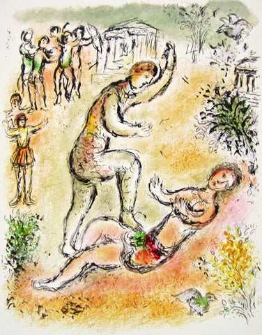 Combat Between Ulysses and Irus (The Odyessy) 1989, Ltd Ed Litho, Marc Chagall - Fine Artwork