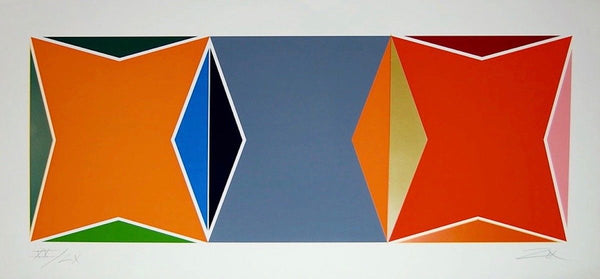 Three Square Composition, Limited Edition Silkscreen, Larry Zox