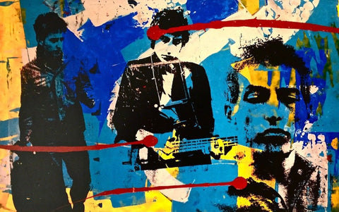 Bob Dylan Collage I, Offset Lithograph, Bobby Hill - Fine Artwork