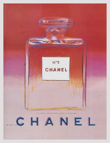 Chanel (Red & Pink), Offset Lithograph on Canvas, Andy Warhol - Fine Artwork