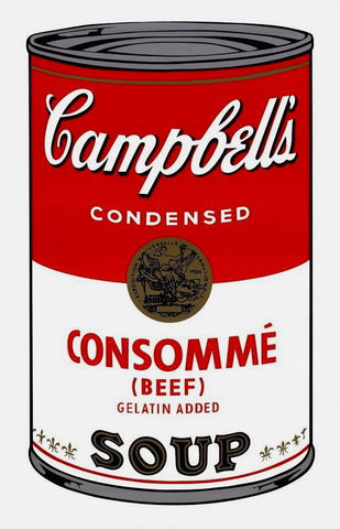 Campbell's Soup Consomme, Silkscreen, Andy Warhol - Fine Artwork