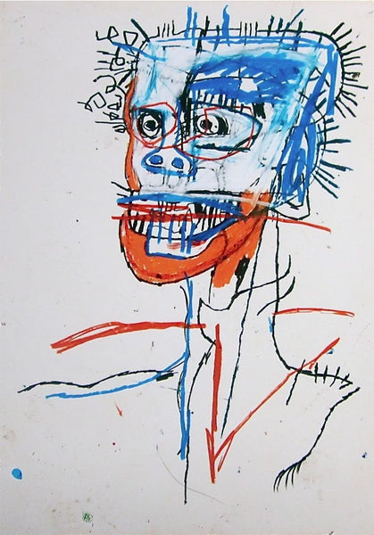 Untitled (1982) Head of Madman - Jean-Michel Basquiat - Fine Artwork
