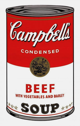 Campbell's Soup-Beef, Silkscreen, Andy Warhol - Fine Artwork