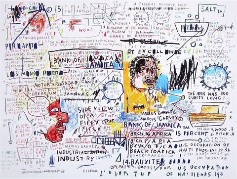 50¢ Piece (1982-83), Giclee, Jean-Michel Basquiat - Fine Artwork