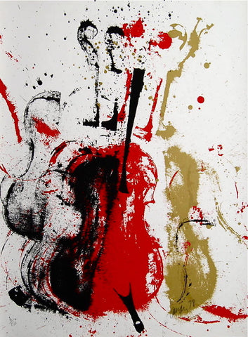 Violent Violins, Limited Edition Silkscreen, ARMAN - Fine Artwork
