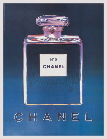 Chanel (Blue & Purple), Offset Lithograph on Canvas, Andy Warhol - Fine Artwork