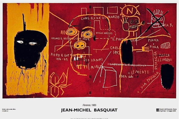 Florence(1983), 2002 Exhibition Poster, Jean-Michel Basquiat