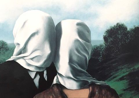 "The Lovers (Les Amants) Small 8.25"" x 11.75"" Offset Lithograph, Rene Magritte"
