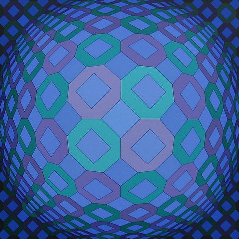 RESPONSES A VASARELY: OKTA-POS, Ltd Ed Silk-screen, Victor Vasarely - Fine Artwork