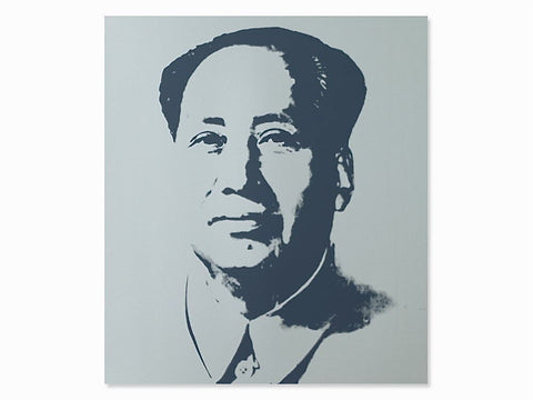 Mao (Silver) Sunday B. Morning, Silk-screen, Andy Warhol - with COA - Fine Artwork