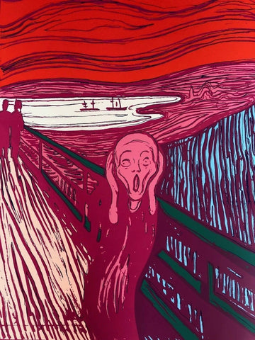 The Scream (Pink), Sunday B. Morning, Silkscreen, Andy Warhol