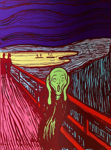 The Scream (Green), Sunday B. Morning, Silkscreen, Andy Warhol