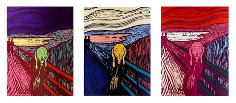 The Scream (3 Ltd Ed Silkscreens) Sunday B. Morning, Andy Warhol