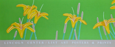 Day Lilies, 1992 Exhibition Silkscreen Poster, Alex Katz
