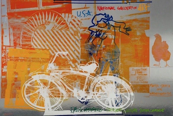 Bicycle,1991 National Gallery Poster, Robert Rauschenberg - Fine Artwork