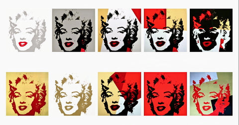 Golden Marilyn Suite (Sunday B. Morning), 10 Silkscreens, Andy Warhol - Fine Artwork