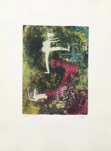Centre Noeuds (Plate #5), 1974 Limited Edition Etching & Aquatint, Roberto Matta