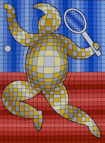 Tennis Player, Limited Edition Silkscreen, Victor Vasarely