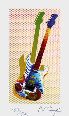 Rock N' Roll Guitar I, Limited Edition Lithograph, Peter Max - Fine Artwork