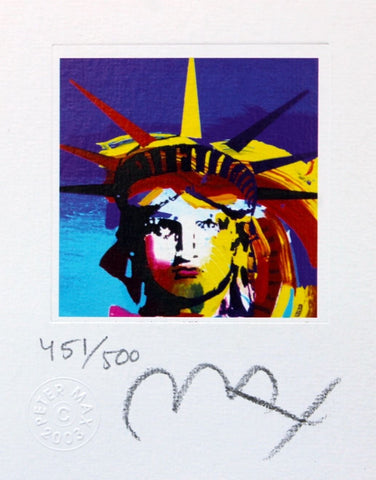 Liberty Head VII (mini), Limited Edition Lithograph, Peter Max - Fine Artwork