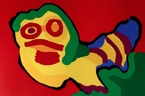 Nothing To Do, 1974 Limited Edition Silkscreen, Karel Appel - Fine Artwork