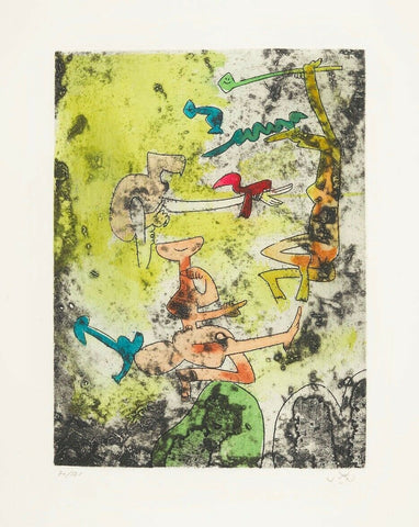 Centre Noeuds (Plate #9), 1974 Limited Edition Etching & Aquatint, Roberto Matta