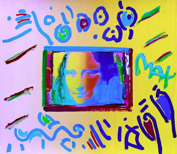 Mona Lisa, Original Mixed Media Painting, Peter Max