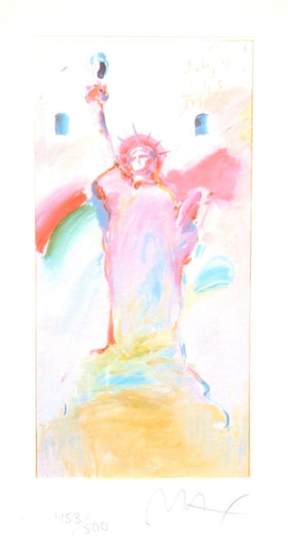 Statue of Liberty VII, Limited Edition Lithograph, Peter Max - Fine Artwork