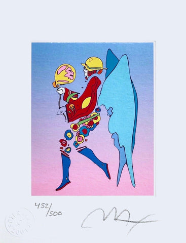 Tip Toe Floating II, Limited Edition Lithograph, Peter Max