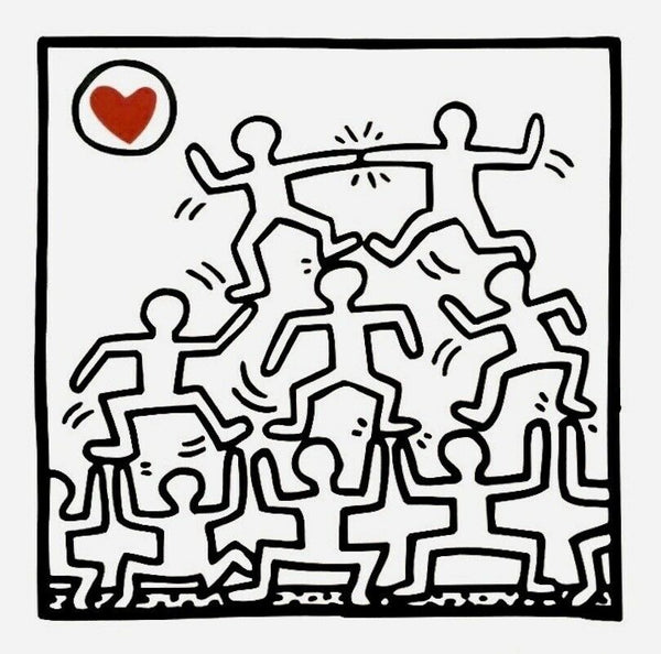 One Man Show, Offset Lithograph, Keith Haring