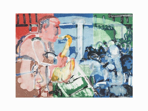 Bopping at Birdland, Limited Edition Lithograph, Romare Bearden - Fine Artwork