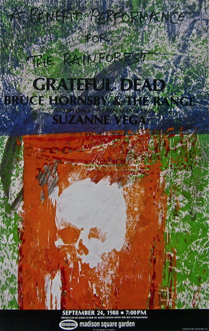 Grateful Dead, Original 1988 Rainforest Benefit Poster, Robert Rauschenberg - Fine Artwork