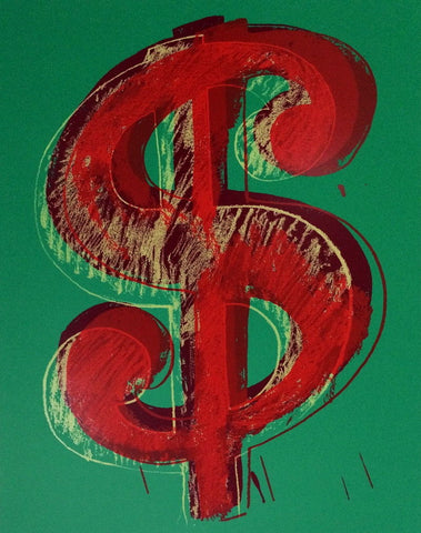Dollar Sign Green (Sunday B. Morning), Ltd Ed Silk-screen, Andy Warhol - Fine Artwork
