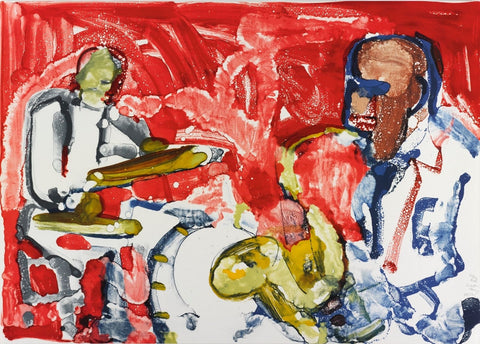 Out Chorus (Rhythm Section), Limited Edition Lithograph, Romare Bearden - Fine Artwork