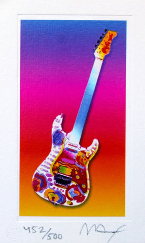 Rock N' Roll Guitar II, Limited Edition Lithograph - Fine Artwork