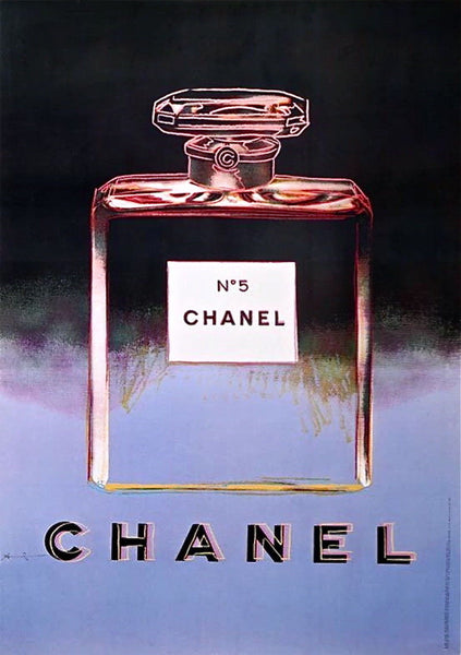 Chanel Black & Purple, Offset Litho on Paper Mounted on Canvas (Large), Andy Warhol - Fine Artwork