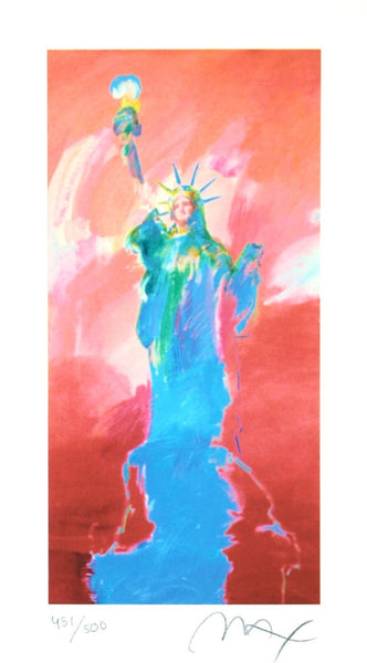 Statue of Liberty II, Limited Edition Lithograph, Peter Max - Fine Artwork