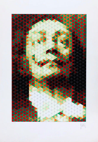 Faces of Dali #4, Limited Edition Silkscreen, Jean-Pierre Vasarely (YVARAL)