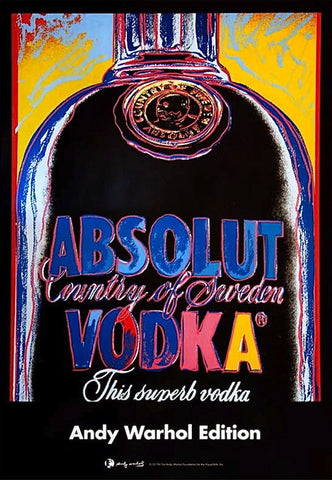 Absolut, Offset Lithograph on Paper Mounted on Canvas, Andy Warhol - Fine Artwork