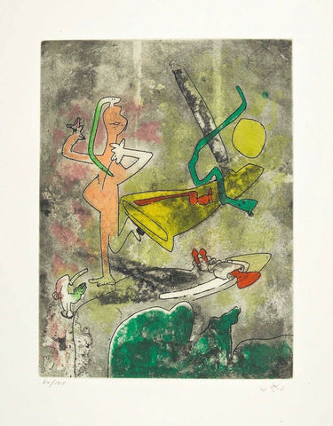 Centre Noeuds (Plate #3) 1974 Limited Edition Etching & Aquatint, Roberto Matta